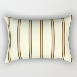 Cream and Brown Stripes Rectangular Pillow