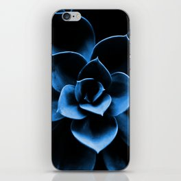 Dark Blue Succulent Plant #decor #society6 #homedecor iPhone Skin