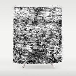 Black Pattern#4 Shower Curtain