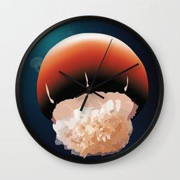 Cannonball Jellyfish Wall Clock