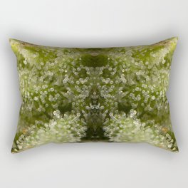 Cannabis Trichome Symmetry Abstract Rectangular Pillow