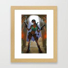 Tomb Raided Framed Art Print