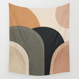 abstract minimal sunrise Wall Tapestry