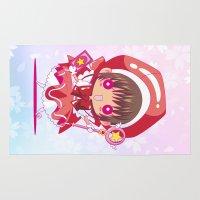 chibi Area & Throw Rugs featuring Chibi Sakura by Neo Crystal Tokyo