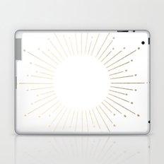 Simply Sunburst in White Gold Sands on White Laptop & iPad Skin