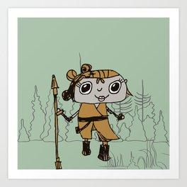 The Warrior Princess Art Print