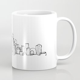 Seattle Skyline Drawing Coffee Mug