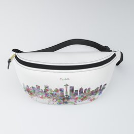 Seattle View in watercolor Fanny Pack