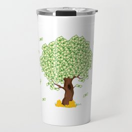 Tree of Money T-shirt Design For those who wants to have luck. Here's a tree of dollars. A must have Travel Mug