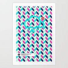 SocialCloud Pattern Art Print