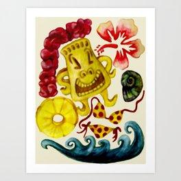 Party Tiki Art Print