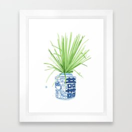 Ginger Jar + Fan Palm Framed Art Print