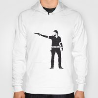 rick grimes Hoodies featuring Rick by the minimalist