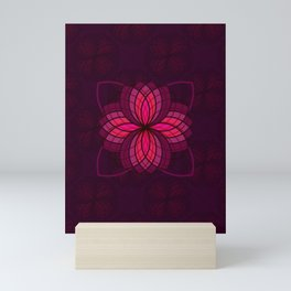 pink mandala Mini Art Print