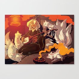 Fox Spirits Canvas Print