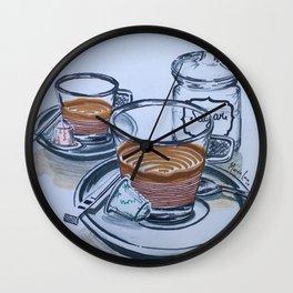 Coffee Cups Wall Clock