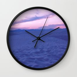 White Sands And Pink Sky Wall Clock