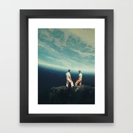 The Earth was crying and We were there Framed Art Print