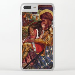 """Dante Gabriel Rossetti """"The Wedding of St. George and Princess Sabra"""" Clear iPhone Case"""