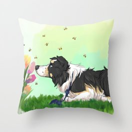 I Watch The Bees Throw Pillow