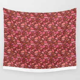 Stained Glass Red Wall Tapestry