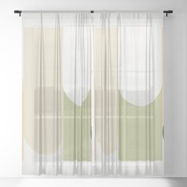 Contemporary Composition 26 Sheer Curtain