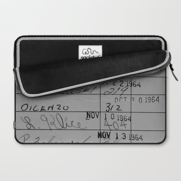 Library Card 23322 Gray Laptop Sleeve