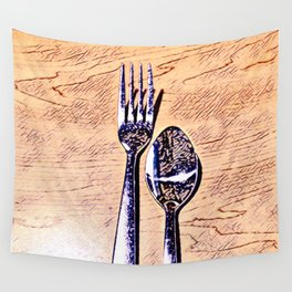 Forks and knives Wall Tapestry