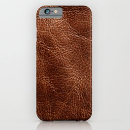 Vintage Dark Brown Leather Texure. Fine Leather Crafting, Handcrafts Work Space, Handmade Leather handcrafted, leather worker. iPhone Case
