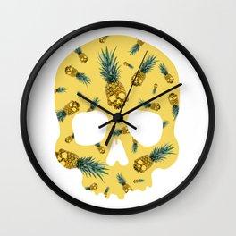 Skull Pineapple Y Wall Clock
