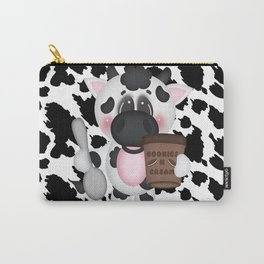Cow Eating Ice Cream Carry-All Pouch
