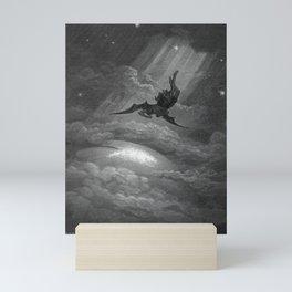 Satan descends upon Earth Gustave Dore Mini Art Print