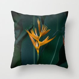 Orchids yellow Throw Pillow