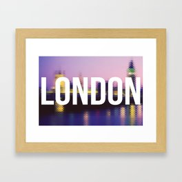 London - Cityscape Framed Art Print