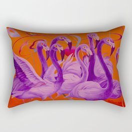 Purple Flamingo Rectangular Pillow