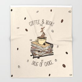 Coffee And Books Throw Blanket