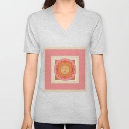 Healing Sacred Geometry Feminine Mandala Unisex V-Neck