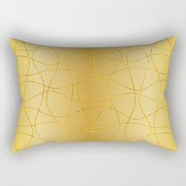 Golden background and lines  Rectangular Pillow
