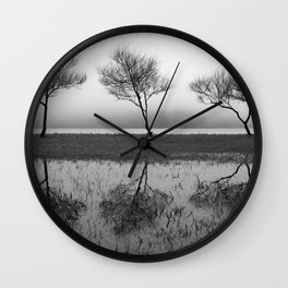 Three trees Wall Clock