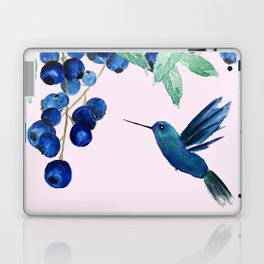 blueberry and humming bird Laptop & iPad Skin