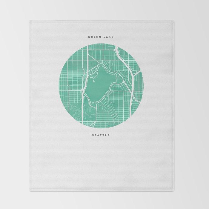 Green Lake, Seattle Throw Blanket