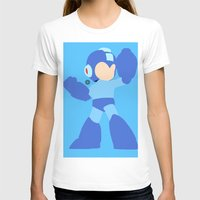 mega man T-shirts featuring Mega Man(Smash)Black by samaran