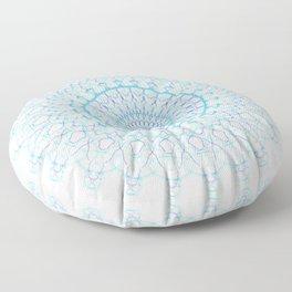 Snowflake #003 transparent Floor Pillow
