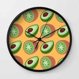Summer - Avocados And Kiwis Wall Clock
