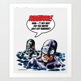 Sea Monster's Surprise! Art Print