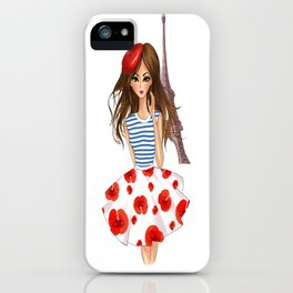 French Girl iPhone Case