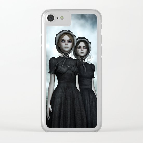 Deadly Halloween Twins – They are coming Clear iPhone Case