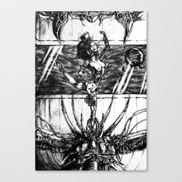The Freedom Of A Cage Of Music Canvas Print