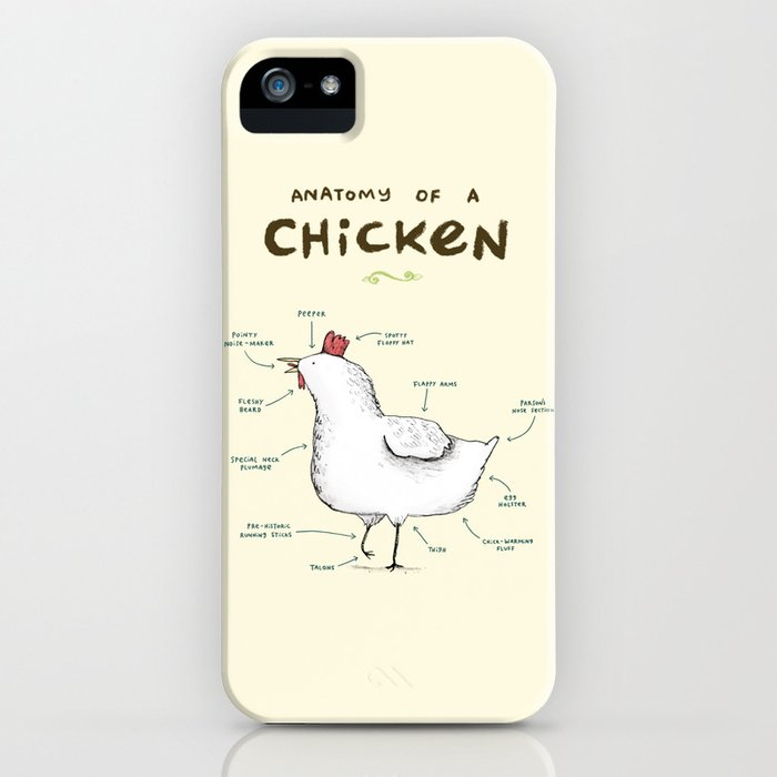 anatomy of a chicken iphone case