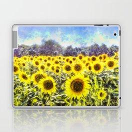 Sunflower Fields Of Summer Dreams Laptop & iPad Skin
